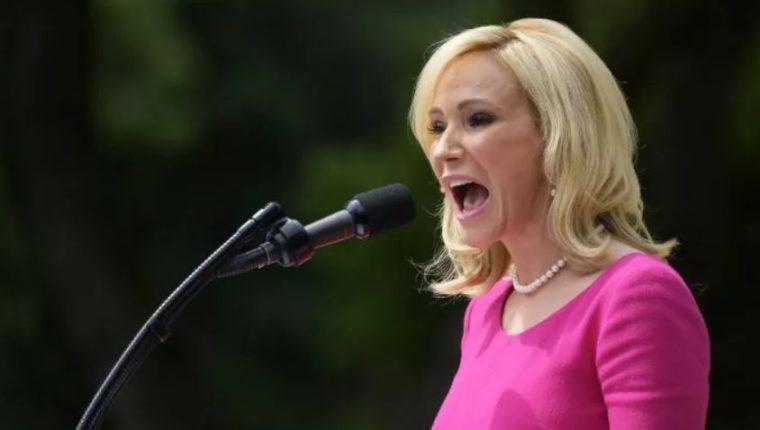 La evangelista Paula Whitey es asesora espiritual de Donald Trump. (Foto Prensa Libre: AFP)
