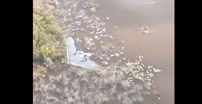Ejército localiza aeronave ilegal accidentada en la Laguna del Tigre