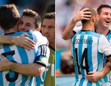 Messi resalta el paso de Javier Mascherano y Fernando Gago en la Selección Argentina. (Foto Prensa Libre: Tomada de Infobae)
