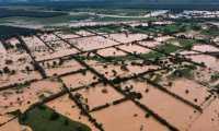 Diversas áreas de cultivos fueron inundadas en varios departamentos del país por la depresión tropical ETA. (Foto, Prensa Libre: Hemeroteca PL).