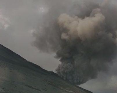 Vista de la actividad del Volcán de Pacaya. (Foto Prensa Libre: Tomada de video)