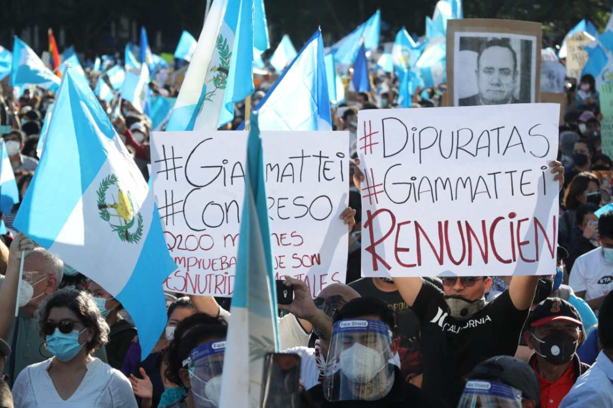 Presupuesto 2021: Las imágenes que marcaron la jornada de manifestaciones en Guatemala