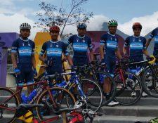 Leonardo González, Fredy Toc, Sergio Chumil, Oswelí González, Esdras Morales y Rony Julajuj integran la Selección de Ciclismo de Guatemala. Foto Prensa Libre: Cortesía Oswelí González.
