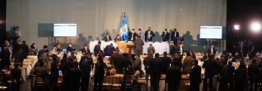 Sesión plenaria en el Centro Cultural Miguel Ángel Asturias. (Foto Prensa Libre: Juan Diego González)