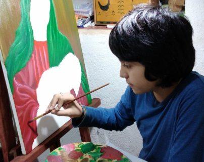 Pablo José Sánchez demuestra destrezas singulares en el arte. (Foto Prensa Libre: cortesía)