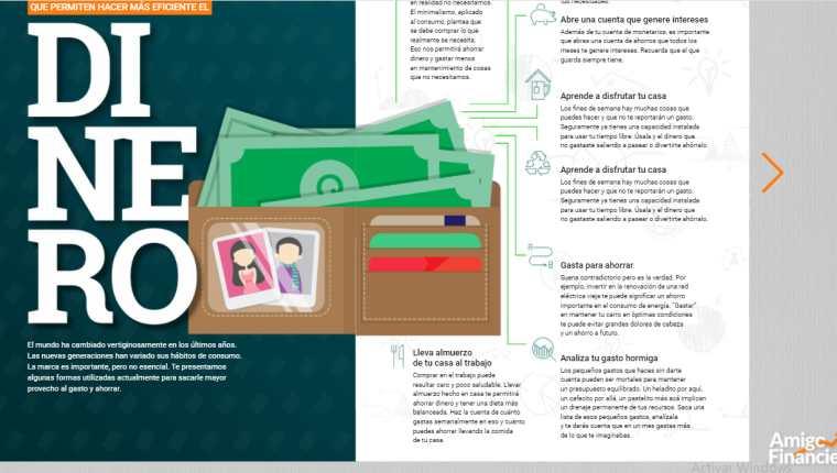 Por medio de esta iniciativa, la institución financiera contribuye a una mejor educación financiera de sus usuarios. Foto Prensa Libre: Cortesía.