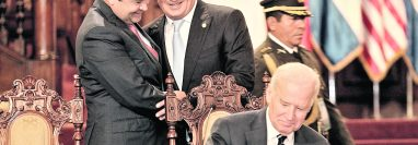 Joe Biden, en 2015 era vicepresidente de los EE.UU e hizo una visita oficial a Guatemala. ( (Foto Prensa Libre:  Esbin Garcia)