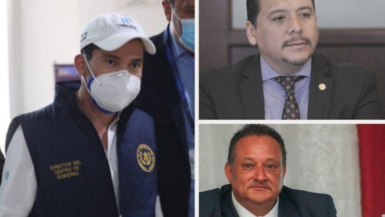 Miguel Martínez, Óscar Dávila y Luis Ruano dirigen las comisiones creadas por el presidente Alejandro Giammattei. (Foto Prensa Libre)