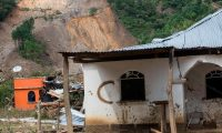 En los 96 municipios afectados se han registrado 83 mil 263 familias afectadas directamente. (Foto Prensa Libre: AFP)