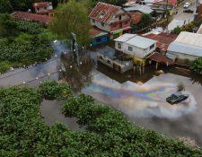 Vista de una área inundada en Morales, Izabal. La tormenta Eta dejó cuantiosas pérdidas materiales y humanas. (Foto: Hemeroteca PL)