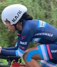 La ciclista guatemalteca Gaby Soto se quedó con la medalla de plata en la prueba contrarreloj del Campeonato Centroamericano de Ruta que se realiza en Panamá. (Foto Prensa Libre: Cortesía Federación de Ciclismo de Guatemala)