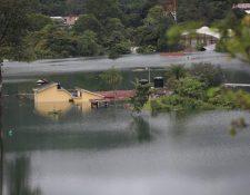 Inundaciones en la aldea Campur, San Pedro Carchá, Alta Verapaz. Las tormentas Eta e Iota causaron estragos a miles de familiares en ese departamento. (Foto Prensa Libre: Hemeroteca PL)