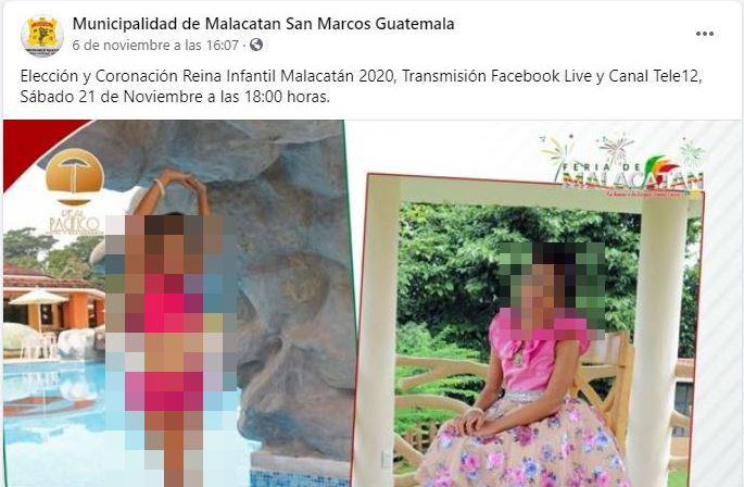 PDH recomienda a la Municipalidad de Malacatán suspender elección de reina infantil por atentar contra dignidad de las niñas