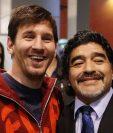 Messi y Maradona, dos históricos. (Foto: Instagram)