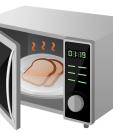 Las ondas electromagnéticas que calientan la comida