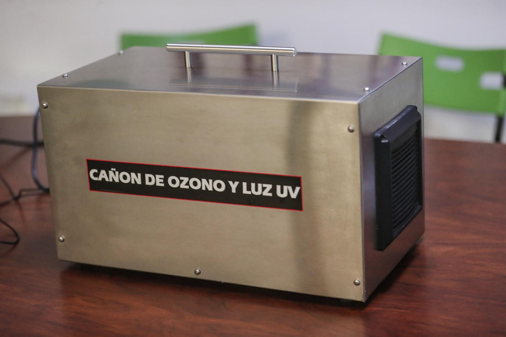 canón de ozono y luz uv