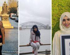 La mujer que logre el Record Guiness por viajar por todos los continentes del mundo en 3 días (Foto Prensa Libre: Guiness World Records)
