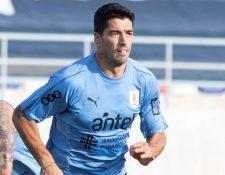 Luis Suárez dio positivo de covid-19. (Foto Prensa Libre: EFE)