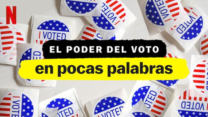 """""""El poder del voto, en pocas palabras"""", es una producción narrada por Leonardo DiCaprio, Selena Gomez y John Legend que explica los detalles del sistema electoral y la importancia del voto. (Foto Prensa Libre: Netflix)"""