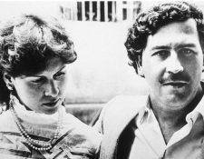 El narcotraficante junto a su esposa, María Victoria Henao.