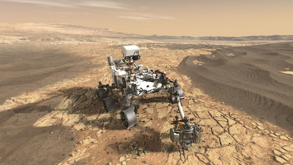 La animación que muestra cómo será el aterrizaje en Marte del robot explorador Perseverance el 18 de febrero de 2021