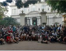 La protesta de artistas del pasado viernes fue la mayor de su tipo registrada en la isla desde 1959.