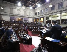En las sesiones plenarias de este año ha sido recurrente la inasistencia de diputados, excepto para la relección de Junta Directiva y el presupuesto 2021. Fotografía: Congreso.