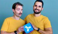 Andrés Canella y Pedro Wunderlich son los desarrolladores de la aplicación Wakeout. (Foto Prensa Libre: Cortesía)