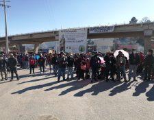 Integrantes de los 48 Cantones de Totonicapán manifiestan contra acciones de funcionarios de los organismos de Estado. (Foto Prensa Libre: Cortesía Caserío Chaquiral )