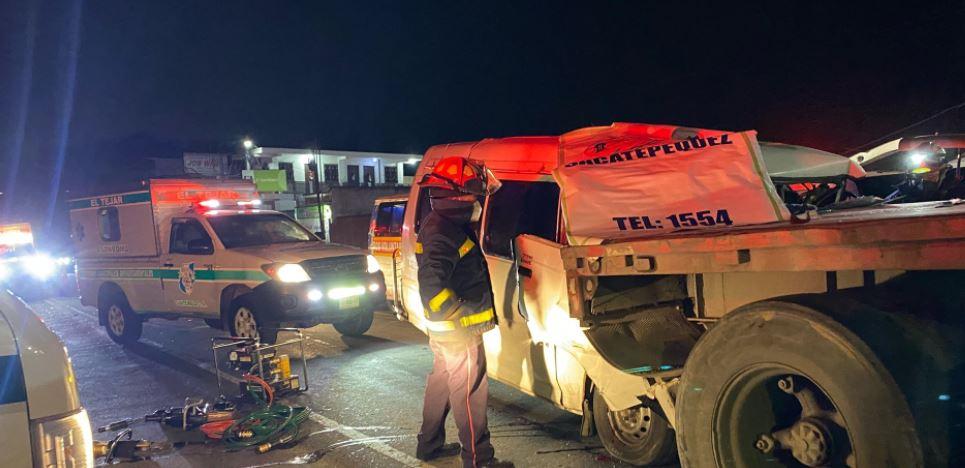 Tres muertos y dos heridos en accidente de tránsito en la ruta Interamericana