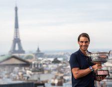 Rafael Nadal estará a la cabeza de la Selección de España en la ATP Cup. (Foto Prensa Libre: AFP)