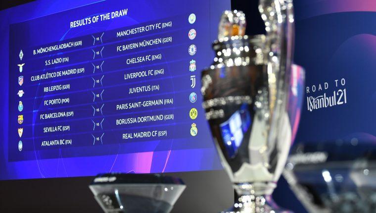 Este lunes fue el sorteo por los octavos de final de la Champions League. Foto Prensa Libre: AFP