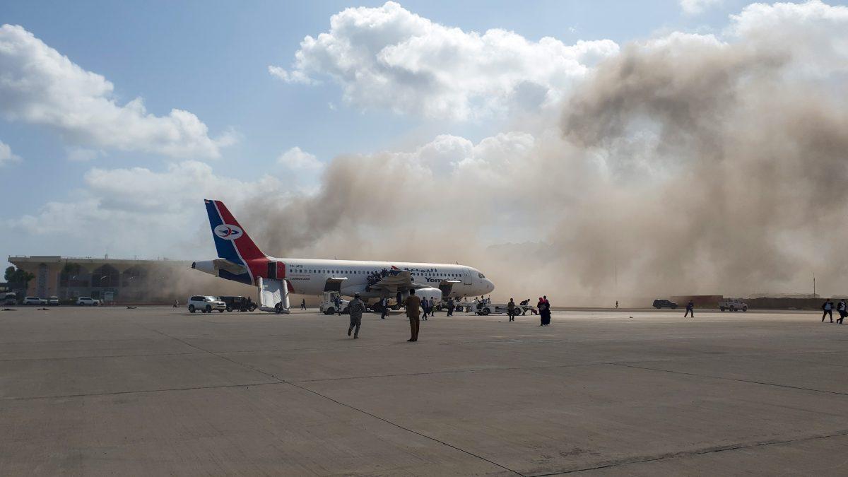 Video: ataque contra el aeropuerto Aden, en Yemen, deja al menos 16 muertos