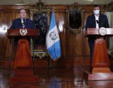 El 4 de diciembre, Giammattei y Castillo transmitieron un mensaje de unidad en el Ejecutivo luego de las críticas del vicepresidente hacia su compañero de fórmula. (Foto: Hemeroteca PL)