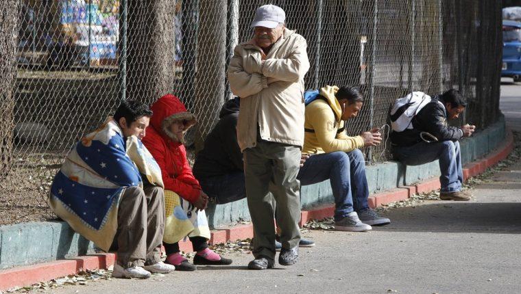 Efectos de frente frío afectarán a Guatemala y la temperatura podría descender a 2 grados