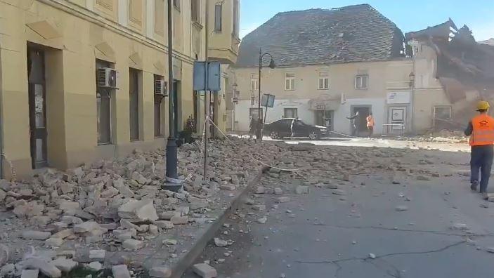 Videos: fuerte sismo de magnitud 6.4 causa daños materiales y pánico en Croacia