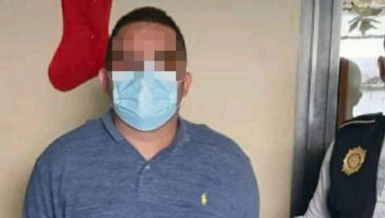 El salvadoreño José Antonio Ramos Hernández fue capturado por agentes de la PNC y del FBI. (Foto Prensa Libre: PNC)