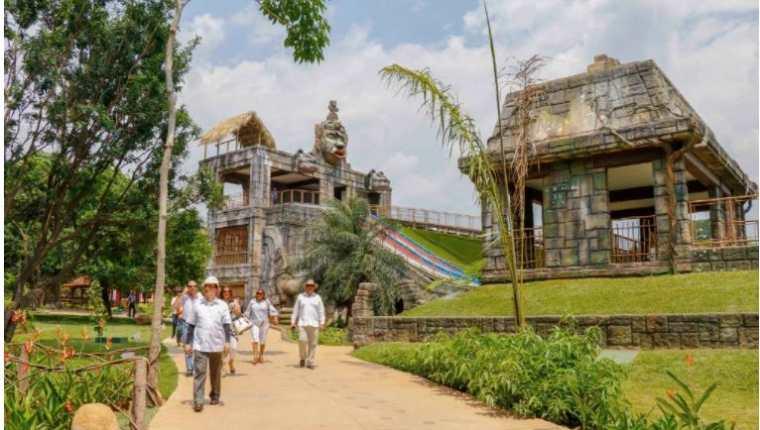 El parque Xejuyup posee veredas donde se puede apreciar su arquitectura. (Foto: Hemeroteca PL)