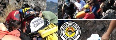 Bomberos Voluntarios reportaron un accidente  en el Cerro La Muela, Quetzaltenango. (Foto, Prensa Libre: BV).