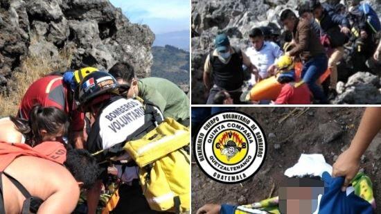 Hombre muere tras caer a una hondonada en cerro La Muela, Quetzaltenango