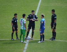 El juego de Antigua GFC vs Santa Lucía Cotzumalguapa se disputa en el estadio Pensativo. Foto Prensa Libre: Cortesía @andresNadf