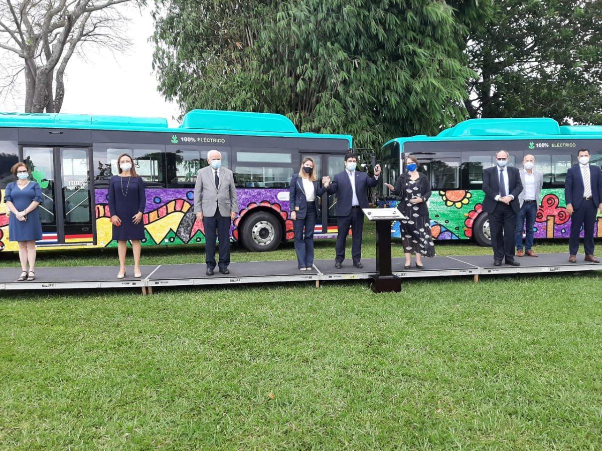 En imágenes: así son los autobuses eléctricos que llegaron a Costa Rica y que pronto circularán