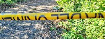 Lugar donde fue encontrado el cuerpo de la menor.   (Foto Prensa Libre: Tomada del Twitter de Jordán Rodas)