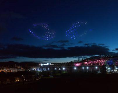 Después de un espectáculo de luces digitales en el cielo de tres días, Escocia recibió el 2021