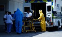 Personas con s'ntomas de covid-19, son atendidas en emergencia del Hospital Roosevelt.        Fotograf'a  Esbin Garcia 15- 12-20