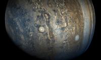 Júpiter y sus colores, visibles al público (Foto Prensa Libre: NASA/JPL-Caltech/SwRI/MSSS/Gerald Eichstädt/Seán Doran).