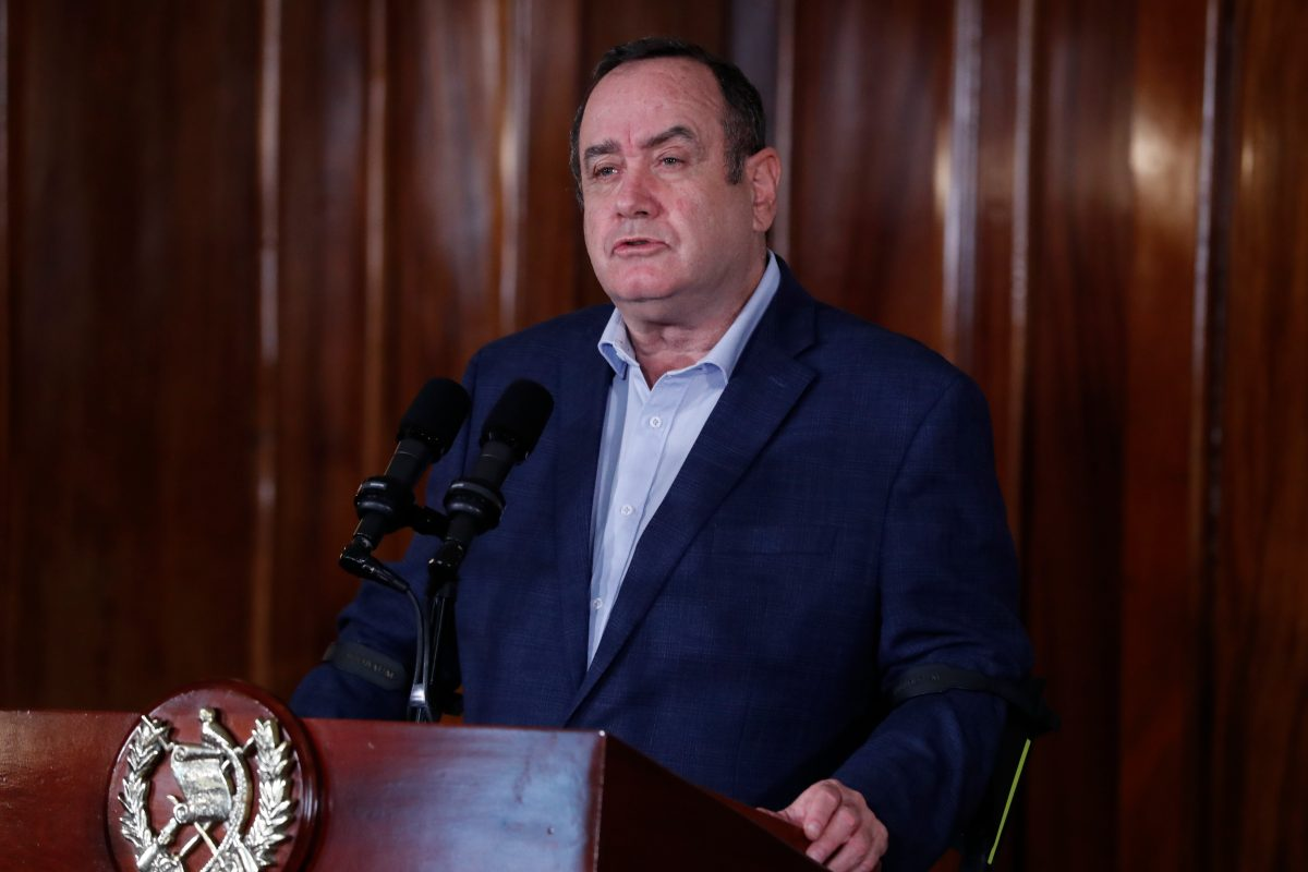 Giammattei espera que Guatemala tenga una reactivación económica en 2021