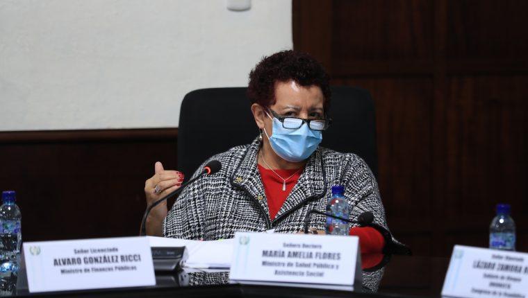 Amelia Flores, ministra de Salud