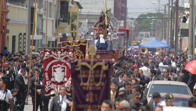 Las procesiones estarán suspendidas en el 2021 en Guatemala y Sacatepéquez. (Foto Prensa Libre: Hemeroteca PL)