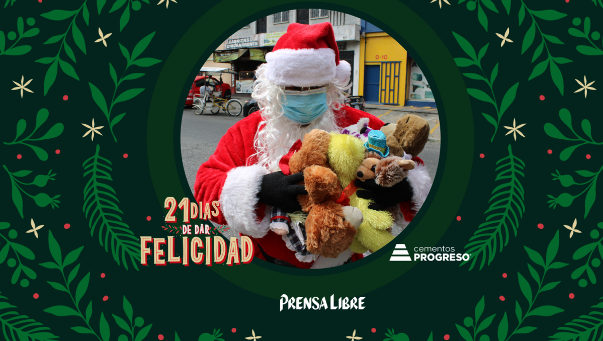 Día21: Santa Claus lleva obsequios a los niños en situación de calle